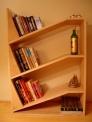 angled bookshelf